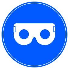 Знак Працювати в захисних окулярах d100