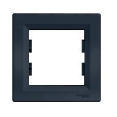 Рамка Schneider Asfora 1-місцева горизонтальна Антрацит (EPH5800221)