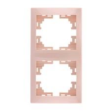 Подвійна рамка Lezard Mira вертикальна Біла (701-0300-152)