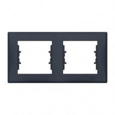Рамка подвійна горизонтальна Графіт Schneider Sedna (SDN5800370)