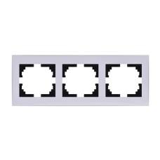 Потрійна рамка Lezard Rain горизонтальна Біла з бічною вставкою (703-0202-148)