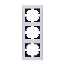Потрійна рамка Lezard Rain вертикальна Біла з бічною вставкою (703-0202-154)