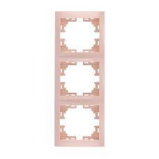 Рамка 3-а вертикальна б/вст крем MIRA Lezard 701-0300-153