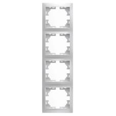 Рамка 4-на вертикальна білий MIRA Lezard 701-0200-154