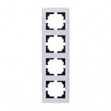 703-0202-154 RAIN Рамка 4-а вертикальна біла з боковою вставкою (703-0202-154)