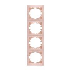 Рамка 4-а вертикальна б/вст крем MIRA Lezard 701-0300-154