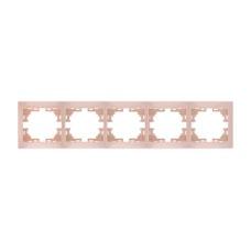Рамка 5-на горизонтальна крем MIRA Lezard 701-0300-150