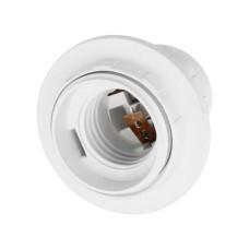 Патрон пластиковий e.lamp socket with nut.Е27.pl.white з гайкою, білий e.next