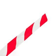 Стрічка огороджувальна  біло-червона 150 100 мкм