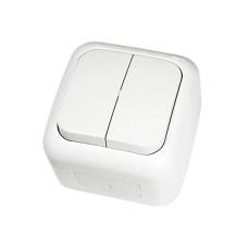 Вимикач 2-х клавішний VIKO Palmiye Білий (90555402)