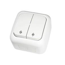 Перемикач прохідний 2-х клавішний VIKO Palmiye Білий (90555417)