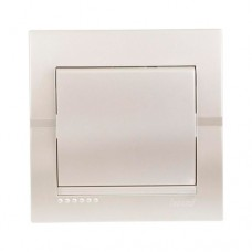 Вимикач 1-клавішний перлинно-білий металік DERIY Lezard 702-3030-100