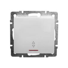 1-клавішний прохідний вимикач з підсвічуванням Lezard Rain Білий (703-0288-114)