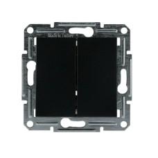 2-клавішний вимикач Schneider Asfora Антрацит (EPH0300171)