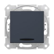 1-клавішний вимикач з підсвічуванням Графіт Schneider Sedna (SDN1400170)