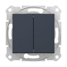 2-клавішний вимикач прохідний Графіт Schneider Sedna (SDN0600170)