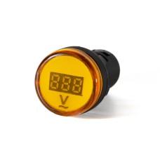 Вольтметр жовтий цифровий AD22-22 DVM  80-500 В AC  АскоУкрем