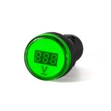 Вольтметр зелений цифровий AD22-22 DVM  80-500 В AC  АскоУкрем
