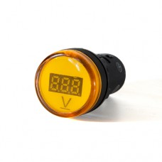 Вольтметр жовтий цифровий AD22-22 DVM   5-30 В DC АскоУкрем