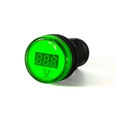 Вольтметр зелений цифровий AD22-22 DVM 5-30 В DC АскоУкрем