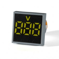 Вольтметр цифровий ED16-22 FVD жовтий 12-500 В АскоУкрем