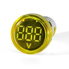 Вольтметр цифровий ED16-22 VD жовтий 12-500 В АскоУкрем