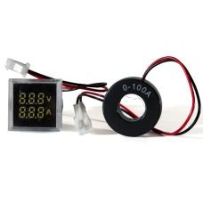 Цифровий вольтметр і амперметр ED16-22 FVAD  білий  25-500 В, 0-100А   АскоУкрем