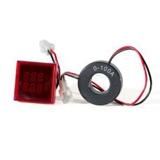 Цифровий вольтметр+амперметр ED16-22 FVAD червоний 25-500 В, 0-100А АскоУкрем