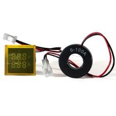 Цифровий вольтметр+амперметр ED16-22 FVAD  жовтий  25-500 В, 0-100А  АскоУкрем