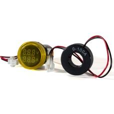 Цифровий вольтметр і амперметр ED16-22 VAD жовтий 25-500 В, 0-100А АскоУкрем