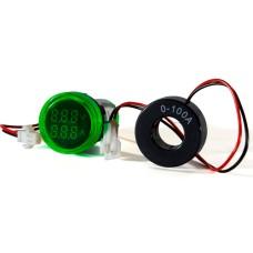 Цифровий вольтметр і амперметр ED16-22 VAD зелений 25-500 В, 0-100А АскоУкрем