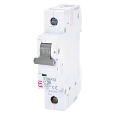 Автоматичний вимикач ETIMAT6 1p C25A ETI