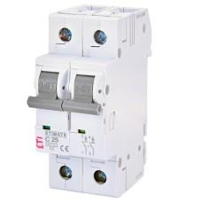 Автоматичний вимикач ETIMAT6 2p C25A ETI