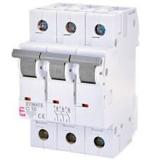 Автоматичний вимикач ETIMAT 6 3p C 10A ETI