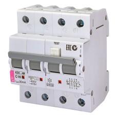 Диференціальний автоматичний вимикач KZS-4M 3p+N C 16/0,03 тип AC (6kA) ETI