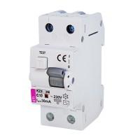 Диференціальний автоматичний вимикач KZS-2M 10A 30 mA  ETI