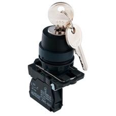Кнопка TB5-AG41 поворотна з ключем 2-х поз. Аско Укрем (A0140010154)