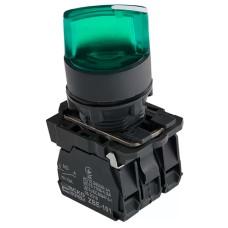Кнопка TB5-AK123M5 зелена поворотна 2-х поз. з підсвічуванням Аско Укрем (A0140010165)