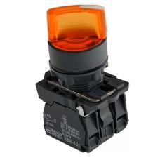 Кнопка TB5-AK125M5 жовта поворотна 2-х поз. з підсвічуванням Аско Укрем (A0140010167)