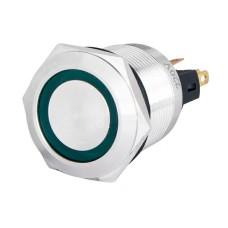 Кнопка металева TYJ 22-371 220V зелена с підсів., з фіксацією 1NO+1NC Аско Укрем (A0140010135)