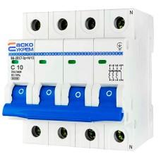 Автоматичний вимикач АСКО-УКРЕМ ВА-2017 3р+N 10А Тип (A001017001021)
