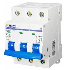 Автоматичний вимикач АСКО-УКРЕМ ВА-2017 3 P 3A Тип C (A0010170040)