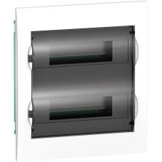 Щит врізний 24 модулі 2 ряди з Димчатою дверкою Easy9 Box Schneider Electric EZ9E212S2F