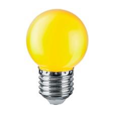 Лампа світлодіодна куля G45 1W E27 жовта LB-37 Feron