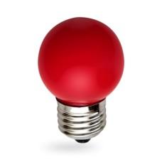 Лампа світлодіодна куля G45 1W E27 червона LB-37 Feron