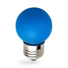 Лампа світлодіодна куля G45 1W E27 синя LB-37 Feron
