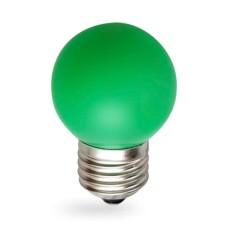 Лампа світлодіодна куля G45 1W E27 зелена LB-37 Feron
