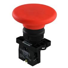 Кнопка LAY5-ER42 грибок (d 60 мм) Стоп червона Аско Укрем (A0140010192)