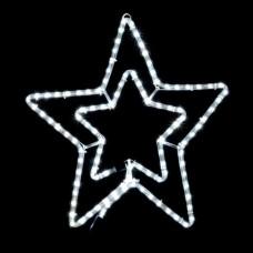 Гірлянда DELUX MOTIF Star 6 кон. 60x60см 13 flash білий IP44 EN