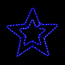 Гірлянда DELUX MOTIF Star 6 кон. 60x60см 13 flash синій IP44 EN